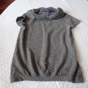 Saks Fifth Avenue Grey 100% Cashmere Sweater Top S